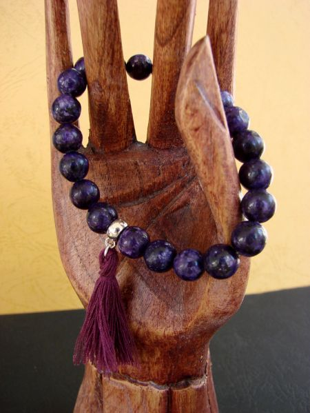 Purple Jade, Bracelet - Half Traditional Style