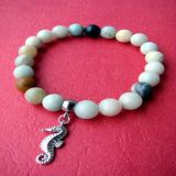Amazonite Colorful and Seahorse Pendant, Bracelet