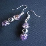 Amethyst and Hematite, Earrings