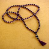 Amethyst and Lavrikite, Necklace - Traditional Style