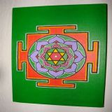 Bhuvaneshwari Yantra with Pathouli Oil, Green Background
