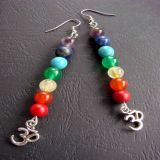 7 Chakras and Pendant OM, Earrings