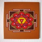 Gayatri Yantra with Rose Oil, Ocher Background