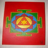 Ganesh Yantra Red Background