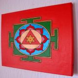 Ganesh Yantra with Moschus Oil, Red Background