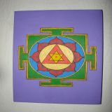 Ganesh Yantra with Patchouli Oil, Purple Background