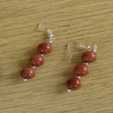 Goldstone, Earrings (Triple)
