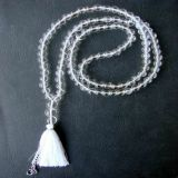 Quartz and Pendant OM Necklace - Tradicional Style