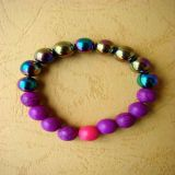 Rainbow Hematite and Howlite, Bracelet - Kids