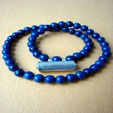 Lapis Lazuli and Silver Kavacha, Necklace