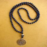 Lapis Lazuli and Shree Yantra Pendant, Necklace