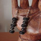 Lava Stone and Hematite, Earrings