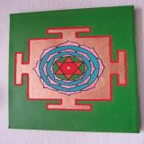 Mahamrityunjaya Yantra Green Background