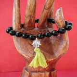 Green Goldstone and Hamsa, Bracelet - Traditional Style