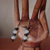 Moonstone and Hematite, Earrings