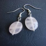 Rose Quartz, Earrings (Oval)