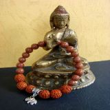 Goldstone and Rudraksha with Elephant Pendant, Bracelet