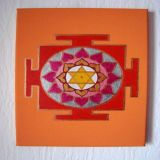 Surya Yantra with Lotus Oil, Apricot Background