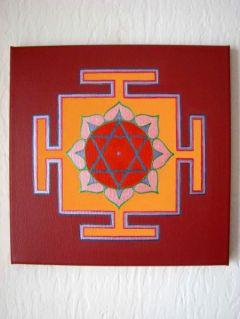 NEW: Lakshmi Yantra with Lotus Oil, Terracotta