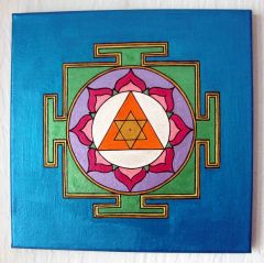 NEW: Ganesh Yantra with Turmeric and Lavender, Metallic