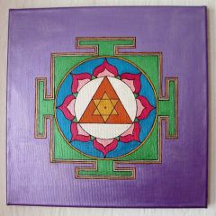 Ganesh Yantra with Turmeric and Lavender, Metallic