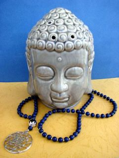 NEW: Lapis Lazuli and Shree Yantra, Necklace