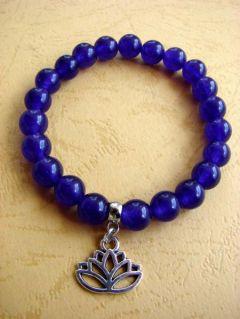 OFFER: Purple Jade and Pendant Lotus, Bracelet