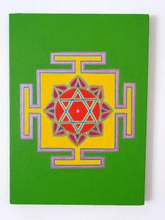 NEW: Green Lakshmi Yantra with Sandal Oil